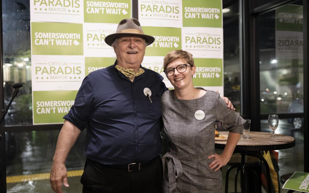 Former Mayor Lincoln Soldati endorses Crystal Paradis for Mayor of Somersworth